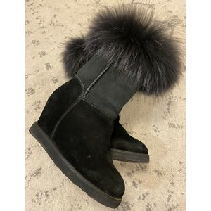 Australia Luxe Collective FOXY Wedge Fur Boots